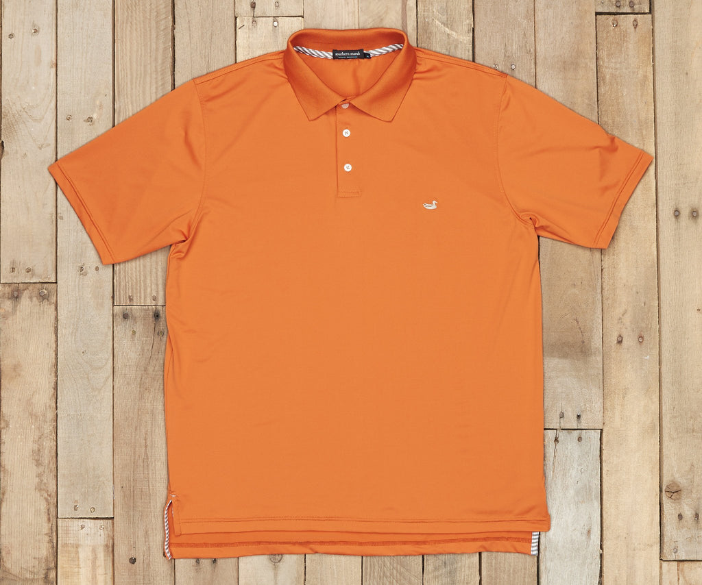 Bermuda Performance Polo | Burnt Orange