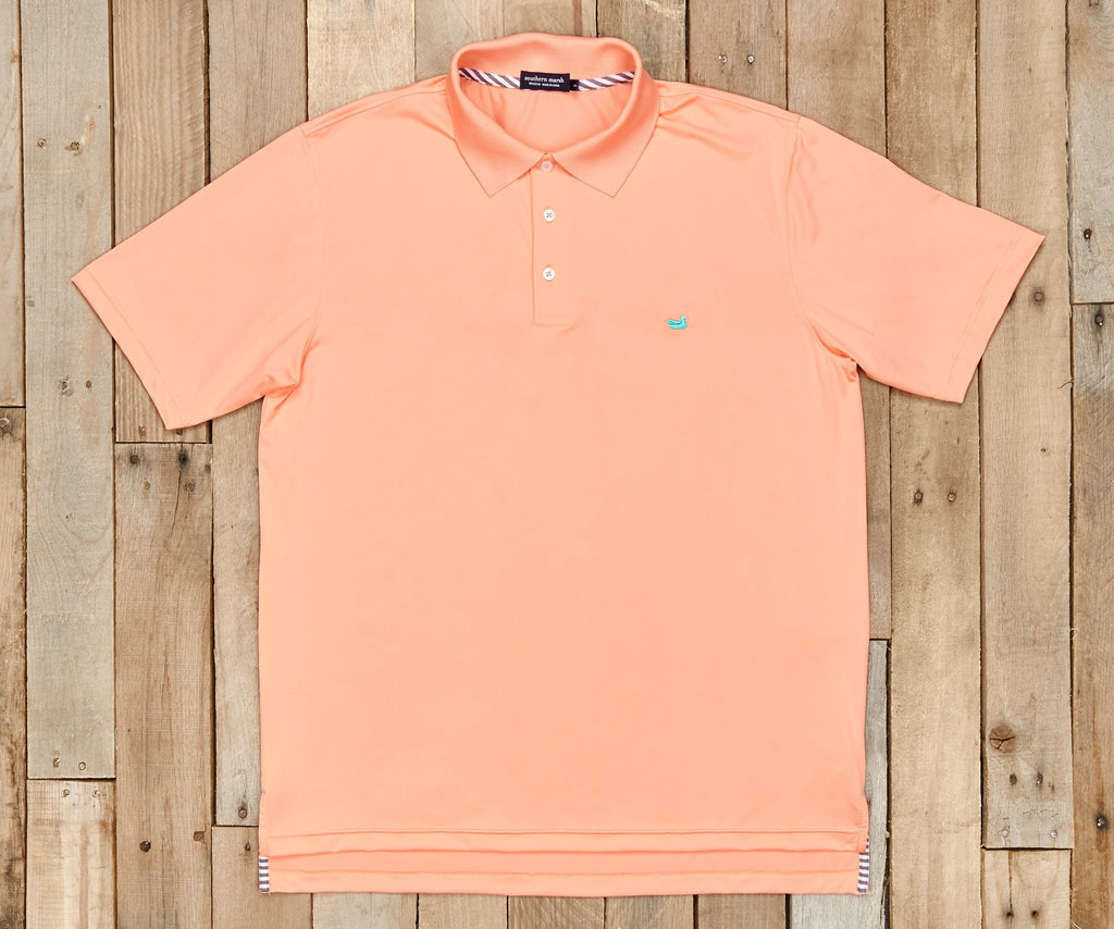 Bermuda Performance Polo | Peach