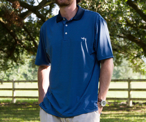 Bermuda Performance Polo - Striped - University of North Carolina at Wilmington