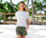 Olive Green | Rachel Relaxed Shorts | Womens Shorts | Lifestyle