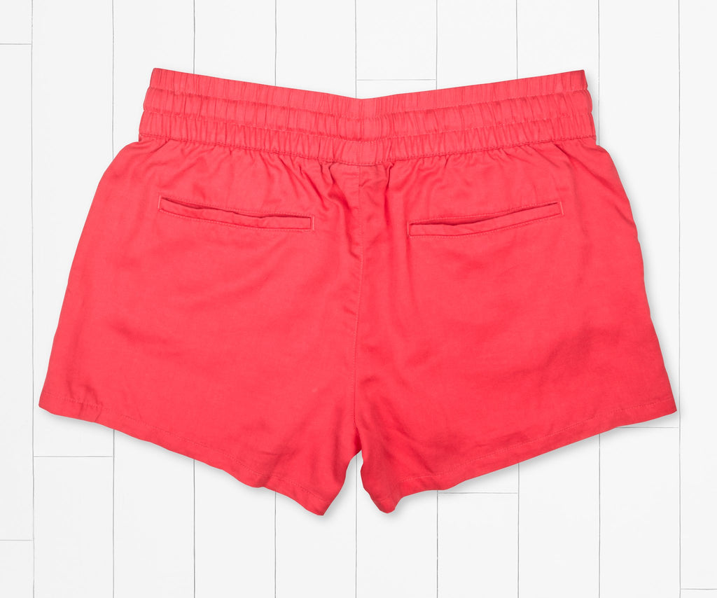 Strawberry Fizz | Rachel Relaxed Shorts | Womens Shorts | Back