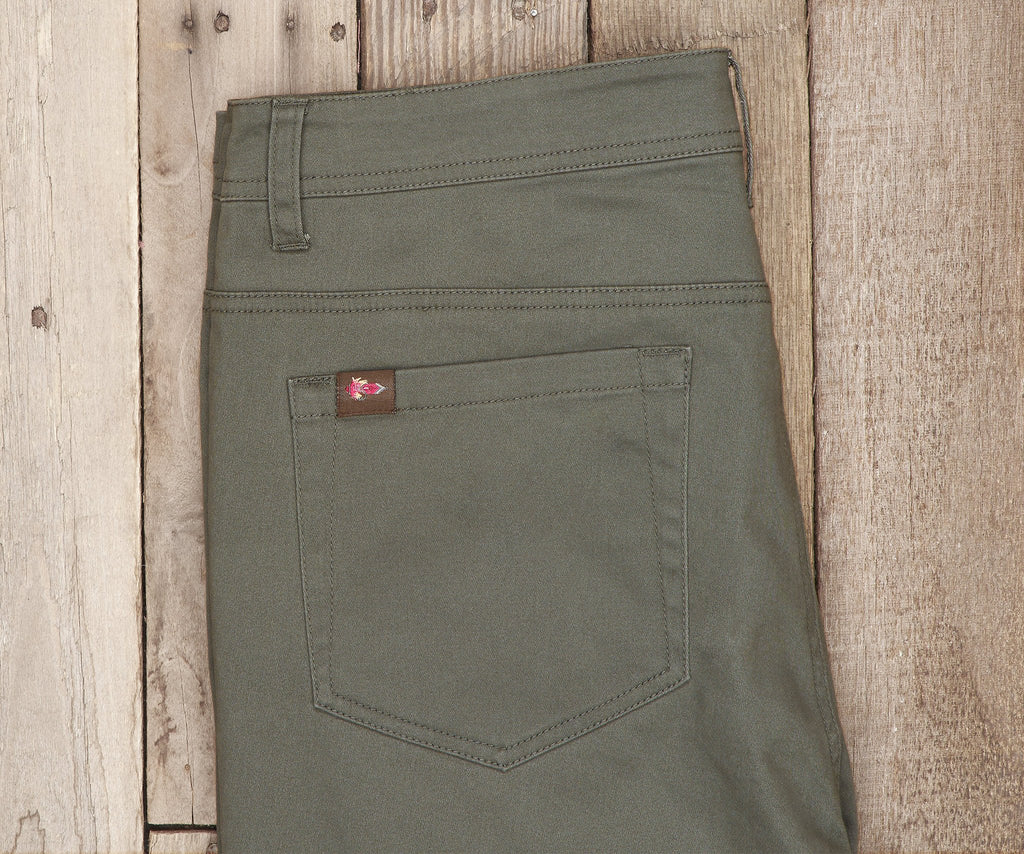 Dark Green Brazos | Brazos Stretch Twill Pant | 34in. Inseam | Men's Pants