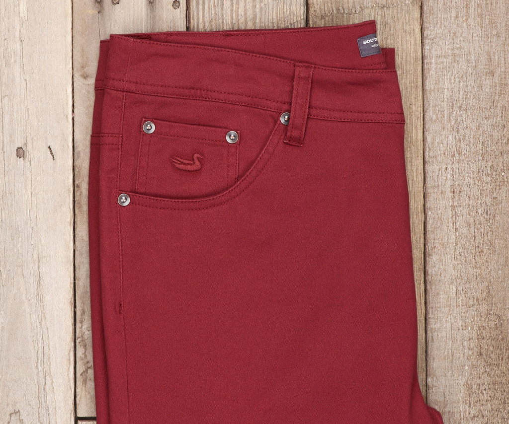 Maroon Brazos | Brazos Stretch Twill Pant | 34in. Inseam | Men's Pants