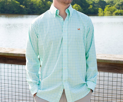 Cameron Performance Gingham Dress Shirt