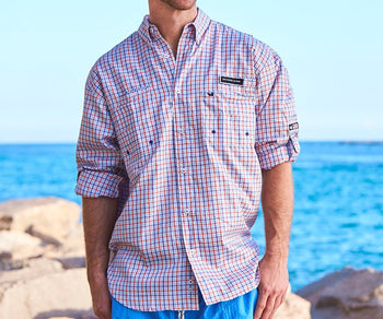 Harbor Cay Fishing Shirt - Abaco Grid