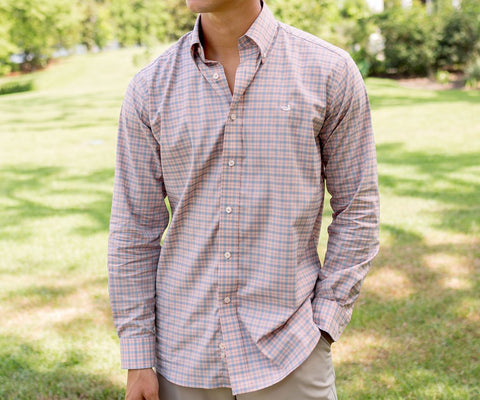 Idlewild Performance Gingham Dress Shirt