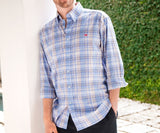 French Blue and Gray | Kershaw Performance Plaid Dress Shirt