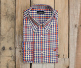 Burnt Orange and Blue | Cumberland Plaid Dress Shirt