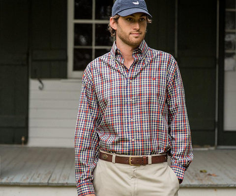 Cumberland Plaid Twill Dress Shirt