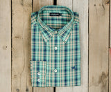 Dark Green and Purple | Cumberland Plaid Dress Shirt