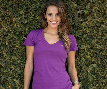 Caroline V-Neck Tee - Cotton