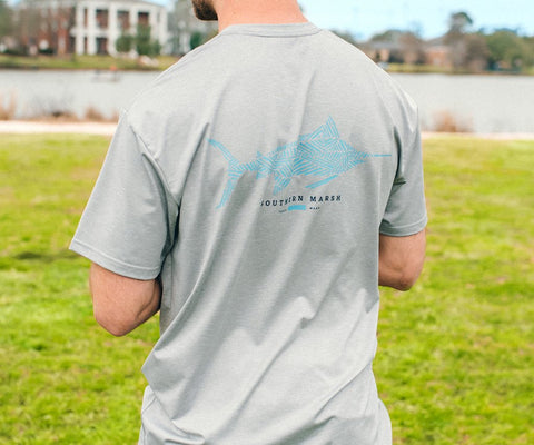 FieldTec™ Heather Performance Tee - Marlin