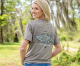 Dark Gray | FieldTec™ Heather Performance Tee | Tarpon | Short Sleeve Performance T-Shirt