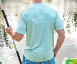 Seafoam | FieldTec™ Heather Performance Tee | Tarpon | Short Sleeve Performance T-Shirt