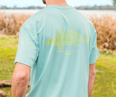 FieldTec™ Heather Performance Tee - Redfish