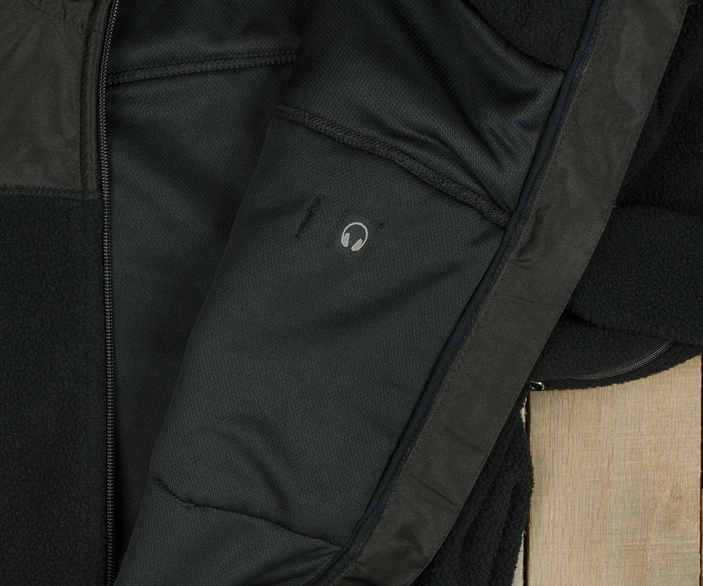 Onyx Black with Black Nylon | FieldTec™ Fleece Jacket | Detail