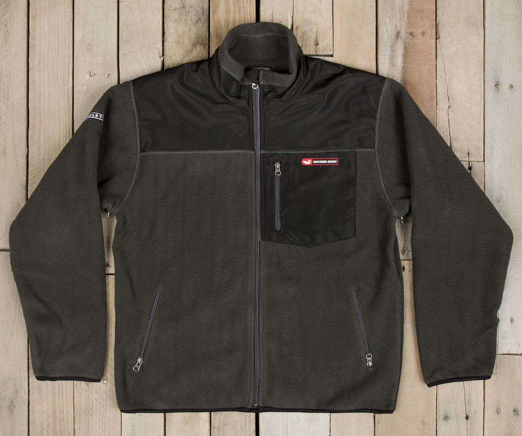 Storm Gray with Black Nylon | FieldTec™ Fleece Jacket