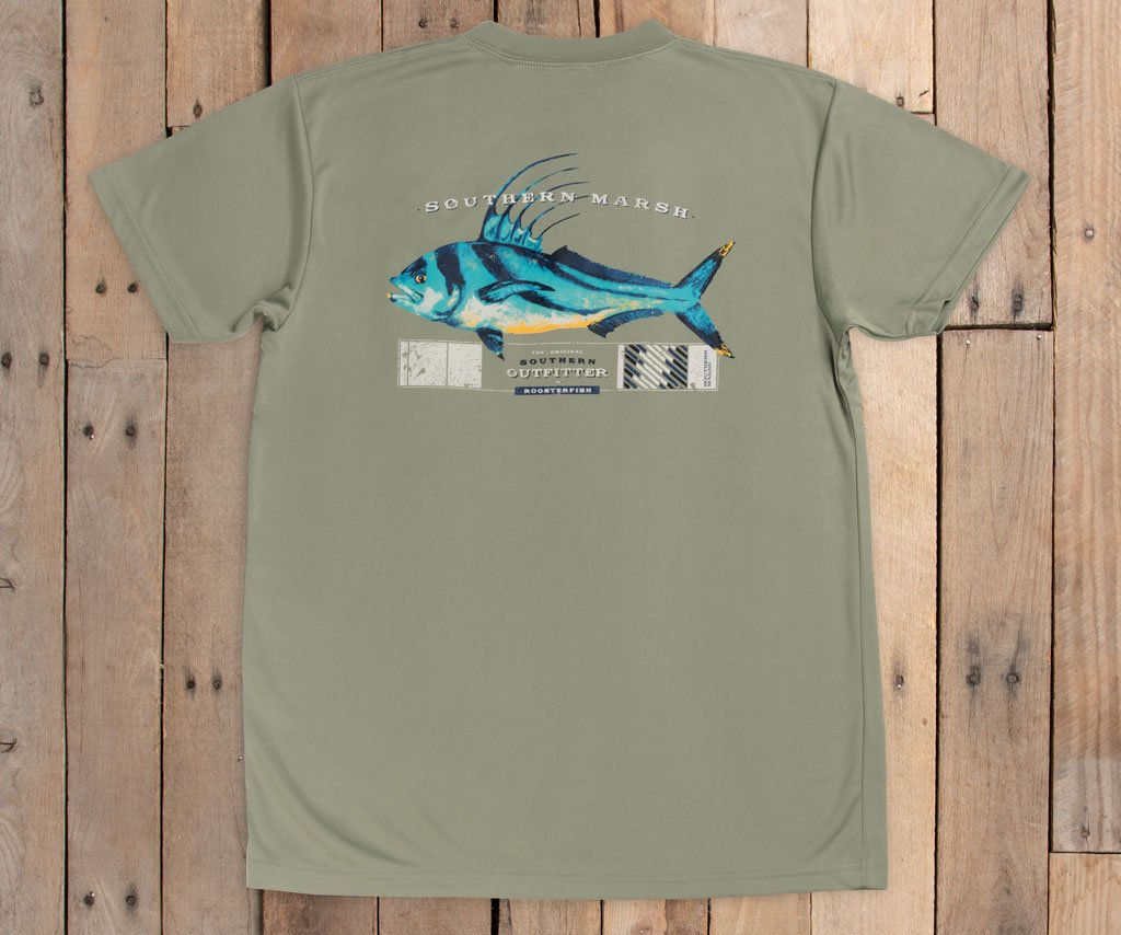 FieldTec™ Outfitter Collection Tee | Roosterfish | Back