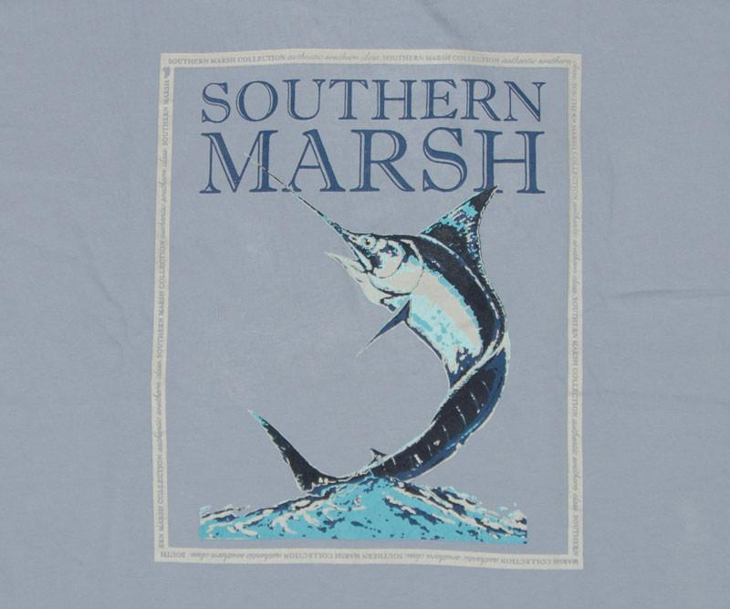 Blue Marlin Fishing Tee - Long Sleeve