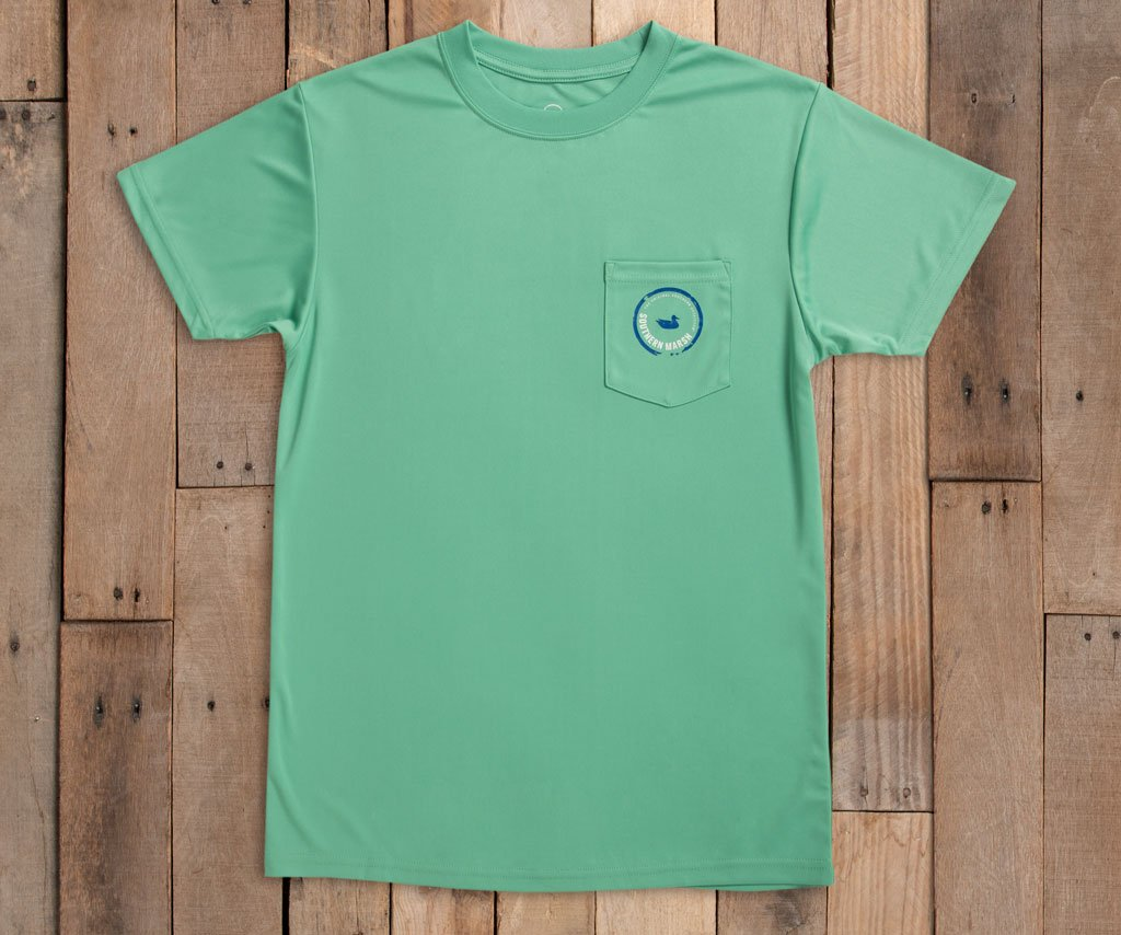 FieldTec™ Outfitter Collection Tee | Snapper | Bimini Green | Front