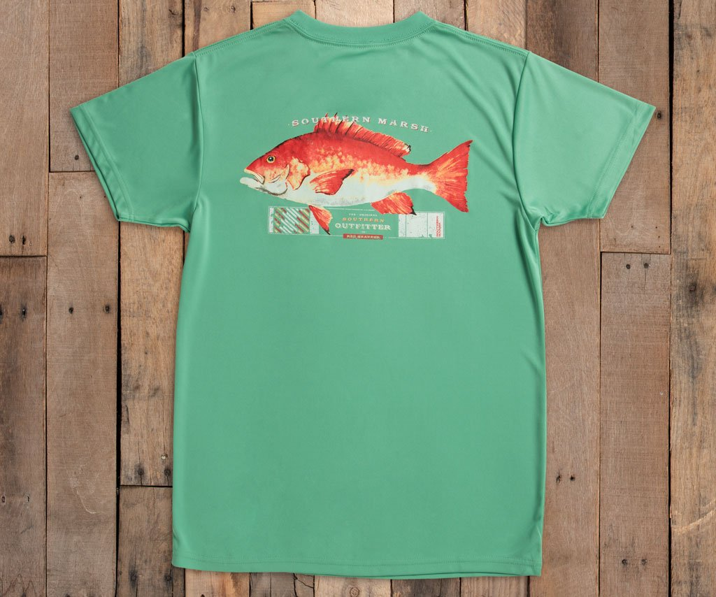 FieldTec™ Outfitter Collection Tee | Snapper | Bimini Green