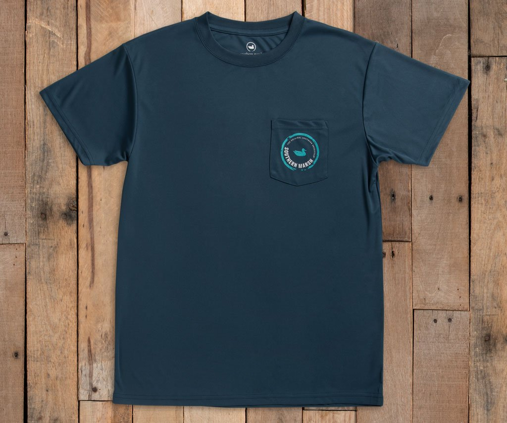 FieldTec™ Outfitter Collection Tee | Snapper | Slate | Front
