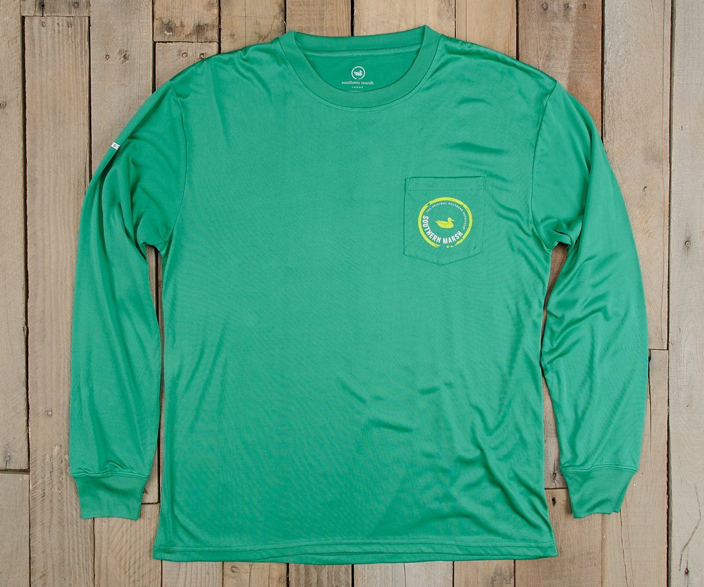Kelly Green | FieldTec™ Pocket Tee | Long Sleeve
