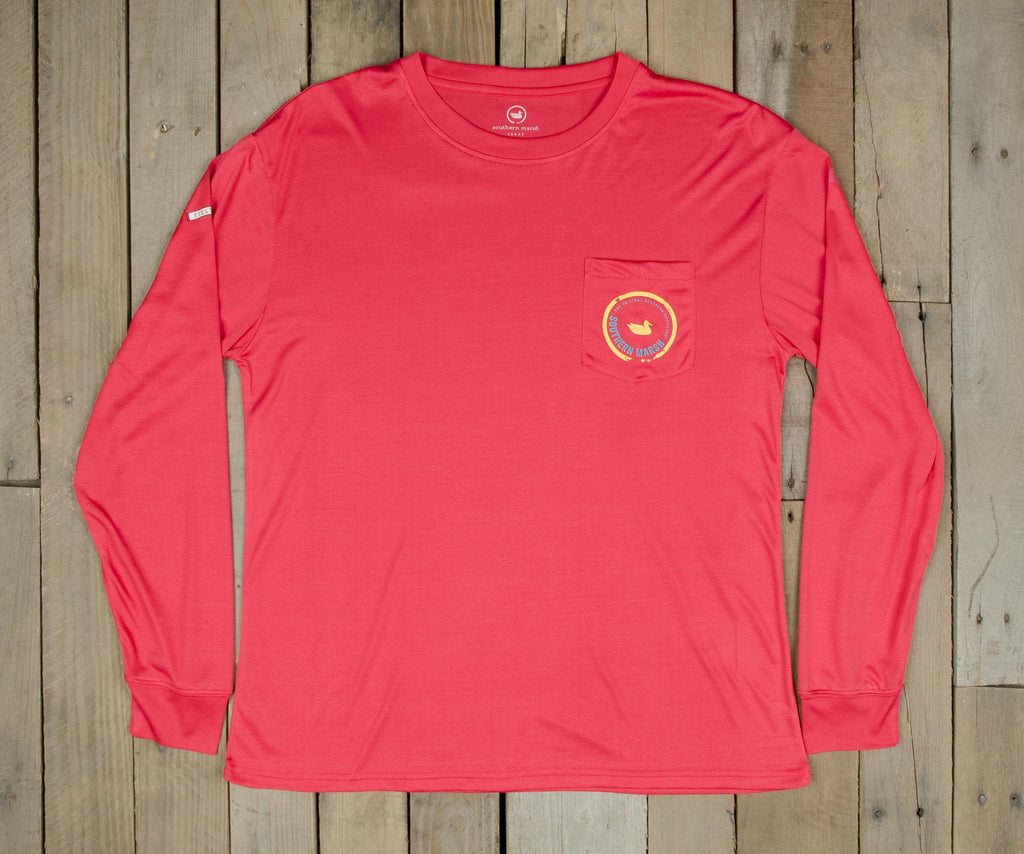 Strawberry Fizz | FieldTec™ Pocket Tee |Long Sleeve