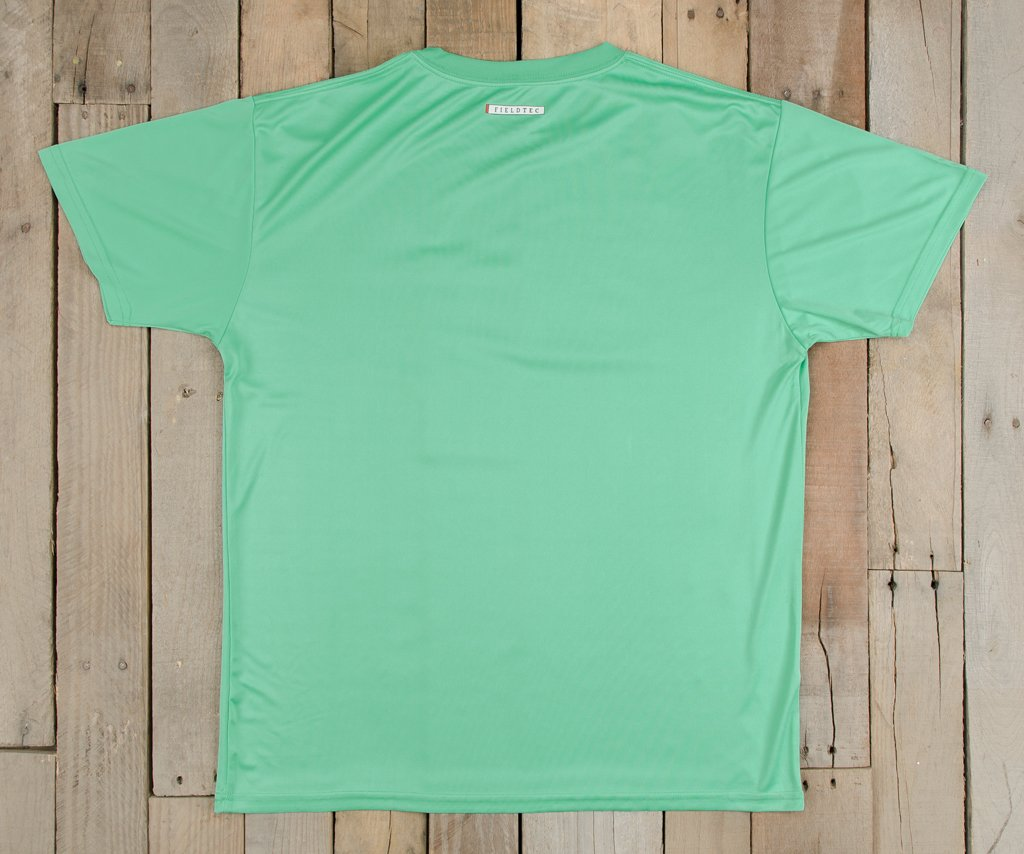 Bimini  Green with Peach | FieldTec™ Pocket Tee | Short Sleeve | Back