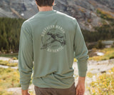 Bay  Green | FieldTec Comfort Tee | Inflight | Long Sleeve T-Shirt | Southern Lifestyle | Back