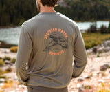 Dark Gray | FieldTec Comfort Tee | Inflight | Long Sleeve T-Shirt | Southern Lifestyle