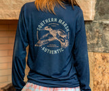 Navy | FieldTec Comfort Tee | Inflight | Long Sleeve T-Shirt | Southern Lifestyle
