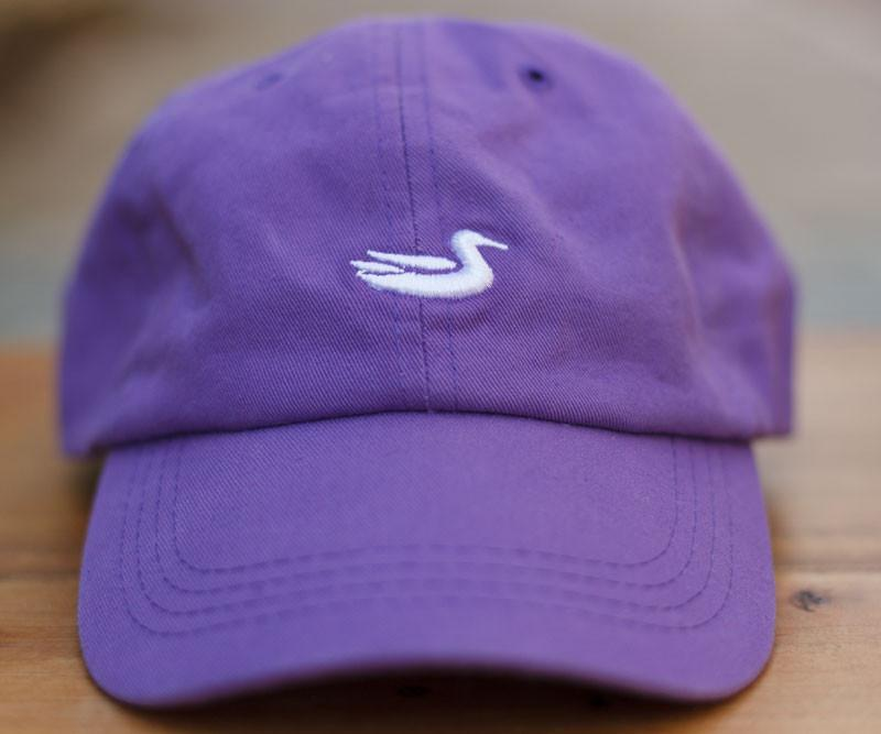 Royal Purple Hat with White Duck