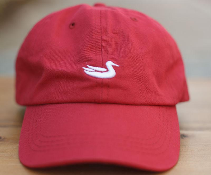 Vintage Red Hat with White Duck