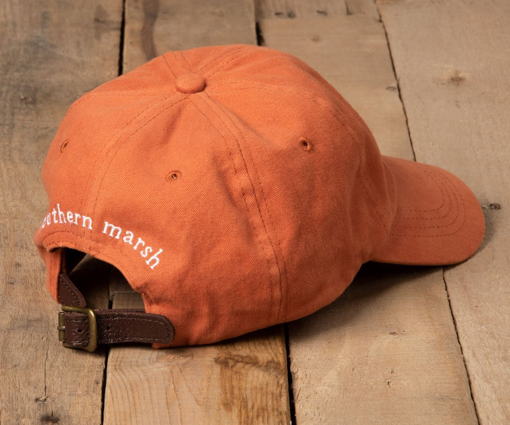 Burnt Orange Hat with White Duck | Southern Marsh Signature Hat | Back