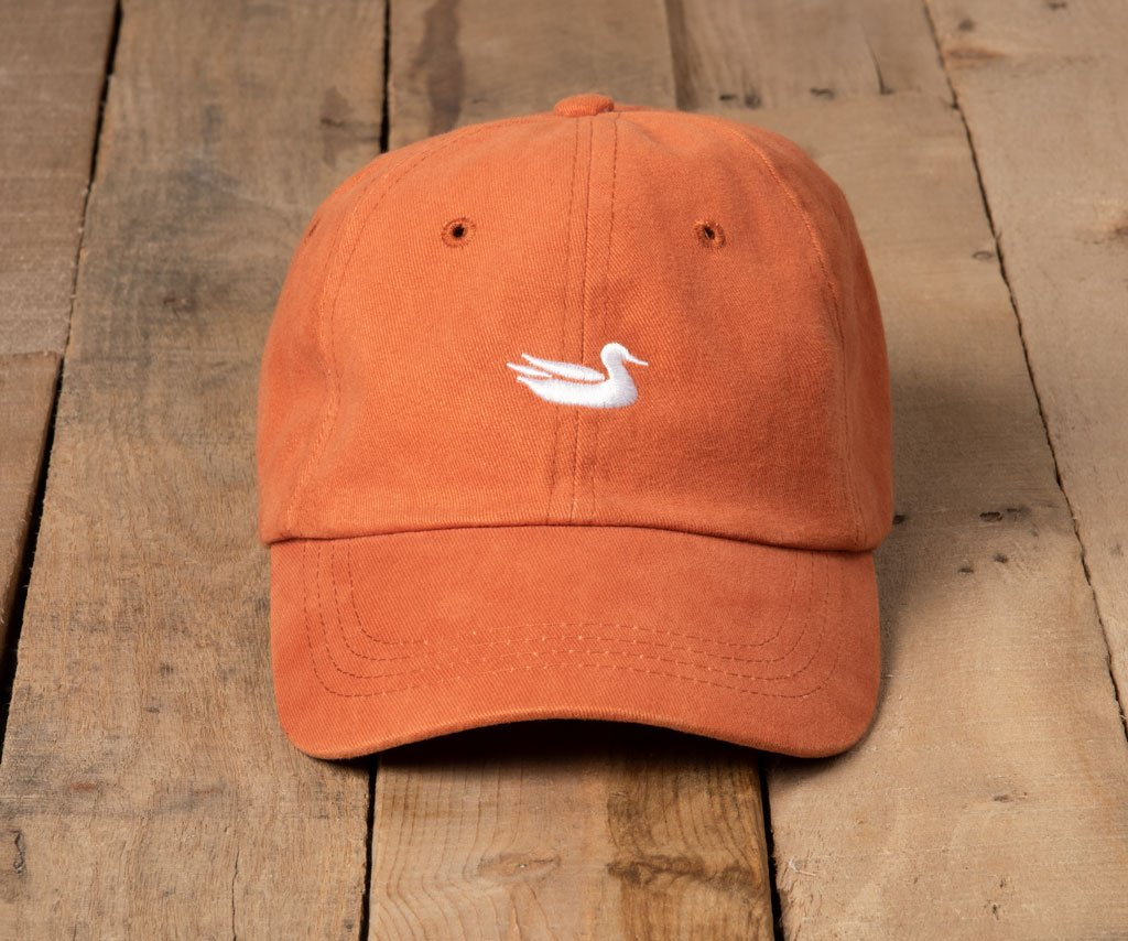 Burnt Orange Hat with White Duck | Southern Marsh Signature Hat