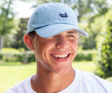 Light Blue Hat with Navy Duck