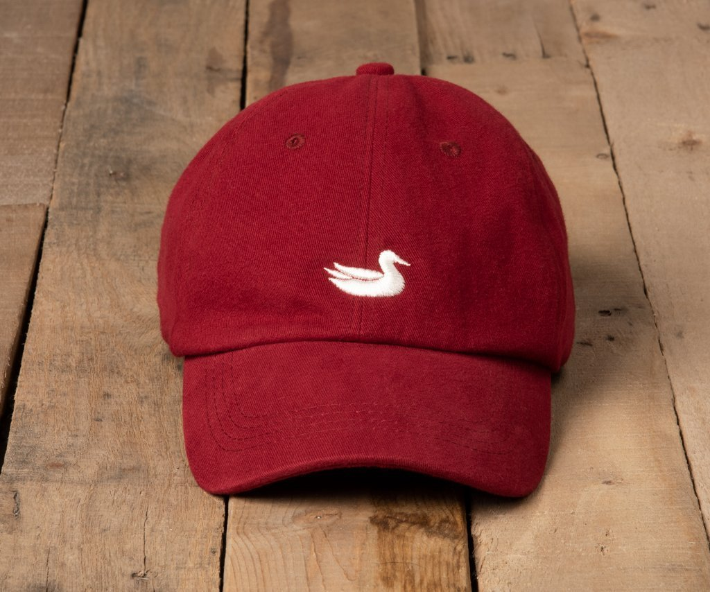 Maroon Hat with White Duck