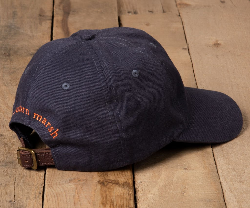 Navy Hat with Orange Duck | Southern Marsh Signature Hat | Back