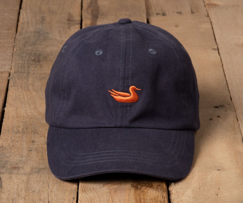 Navy Hat with Orange Duck | Southern Marsh Signature Hat