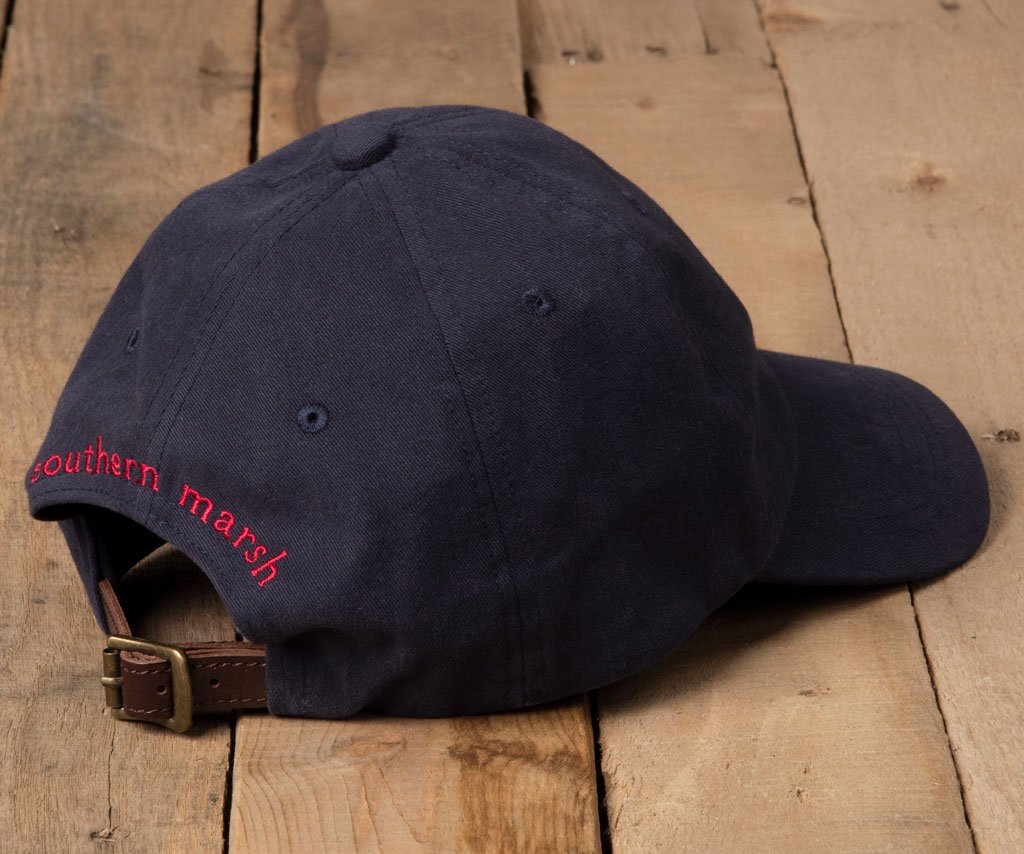 Navy Hat with Red Duck | Signature Hat | Back