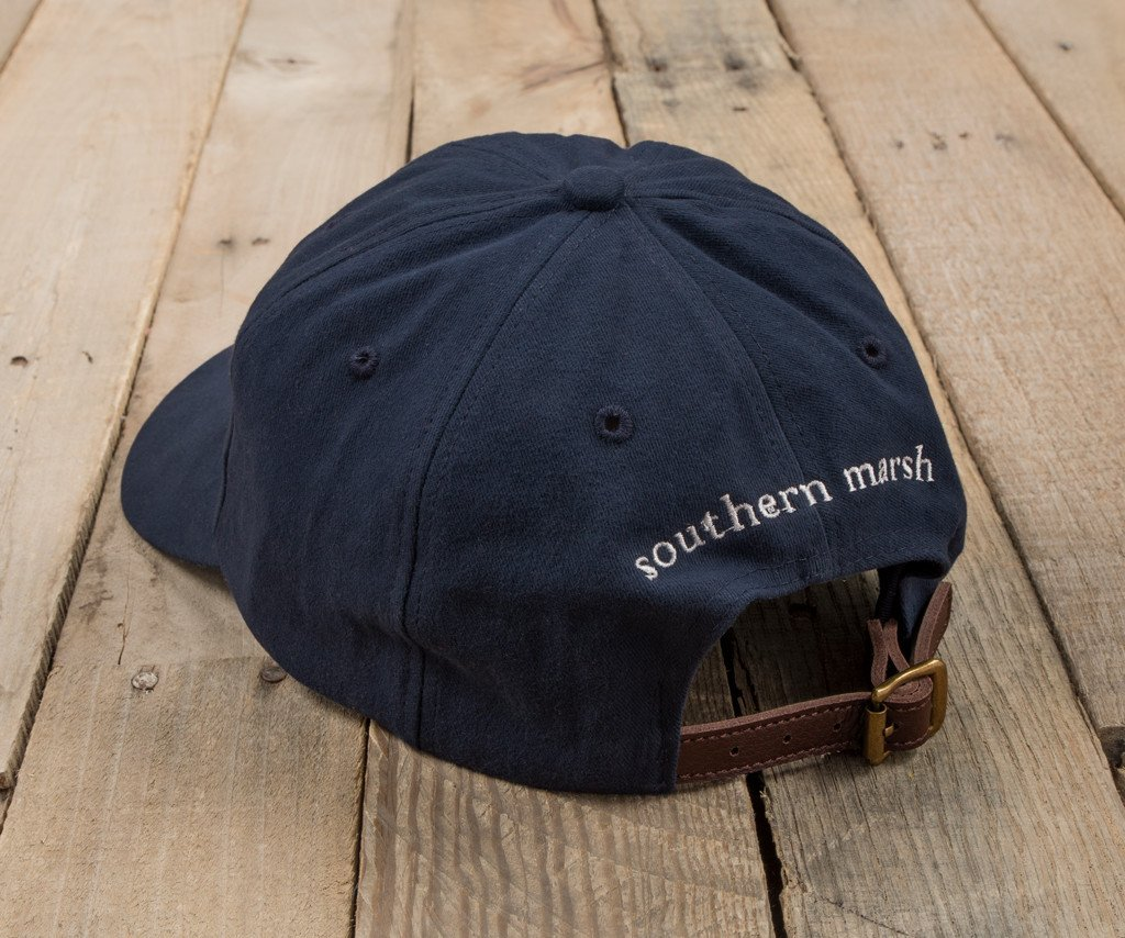 Navy Hat with White Duck | Southern Marsh Signature Hat | Back