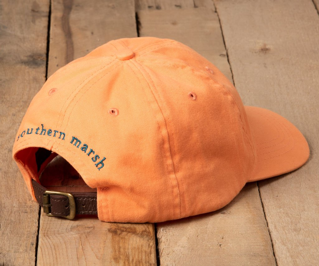 Washed Melon Hat with Squall Green Duck | Southern Marsh Washed Hat