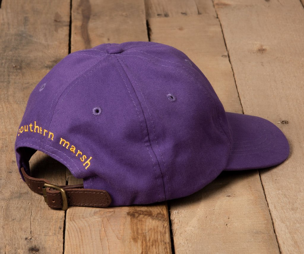 Purple Hat with Yellow Duck | Southern Marsh Signature Hat | Back