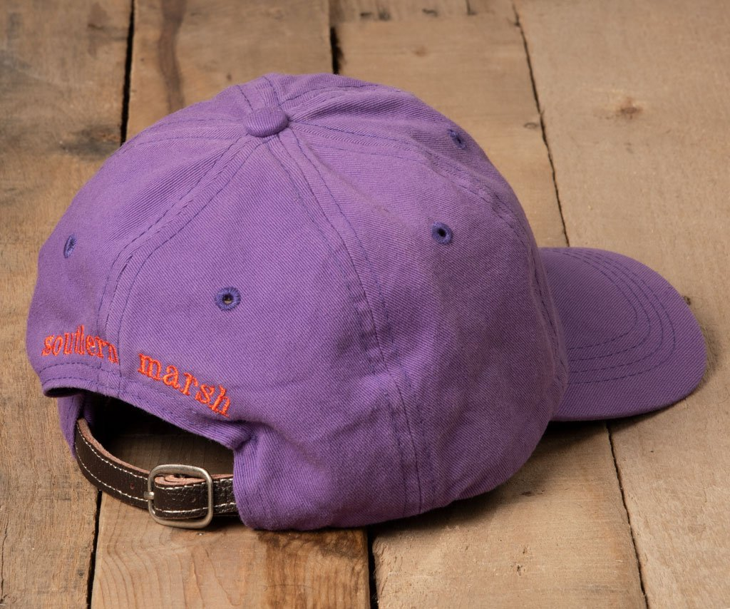 Royal Purple Hat with Orange Duck | Southern Marsh Signature Hat | Back