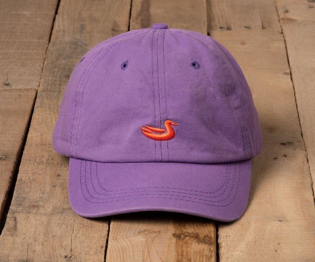 Royal Purple Hat with Orange Duck