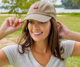 Tan Hat with Red Duck