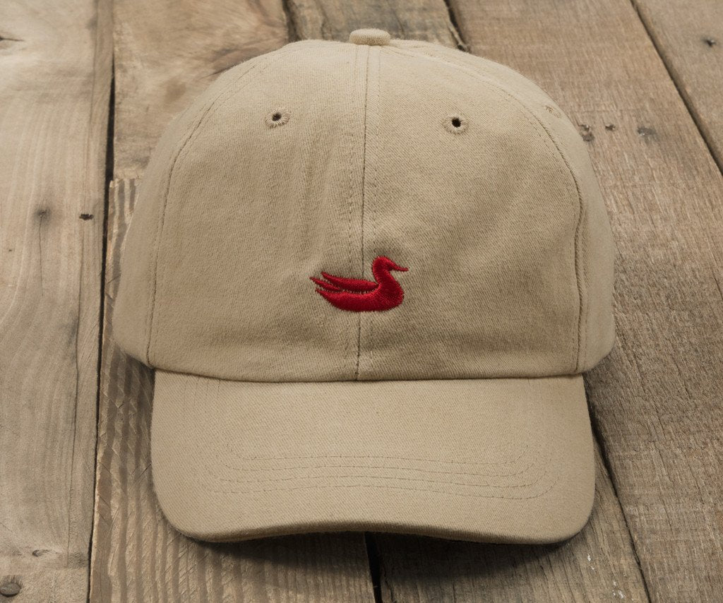 Tan Hat with Red Duck | Southern Marsh Signature Hat