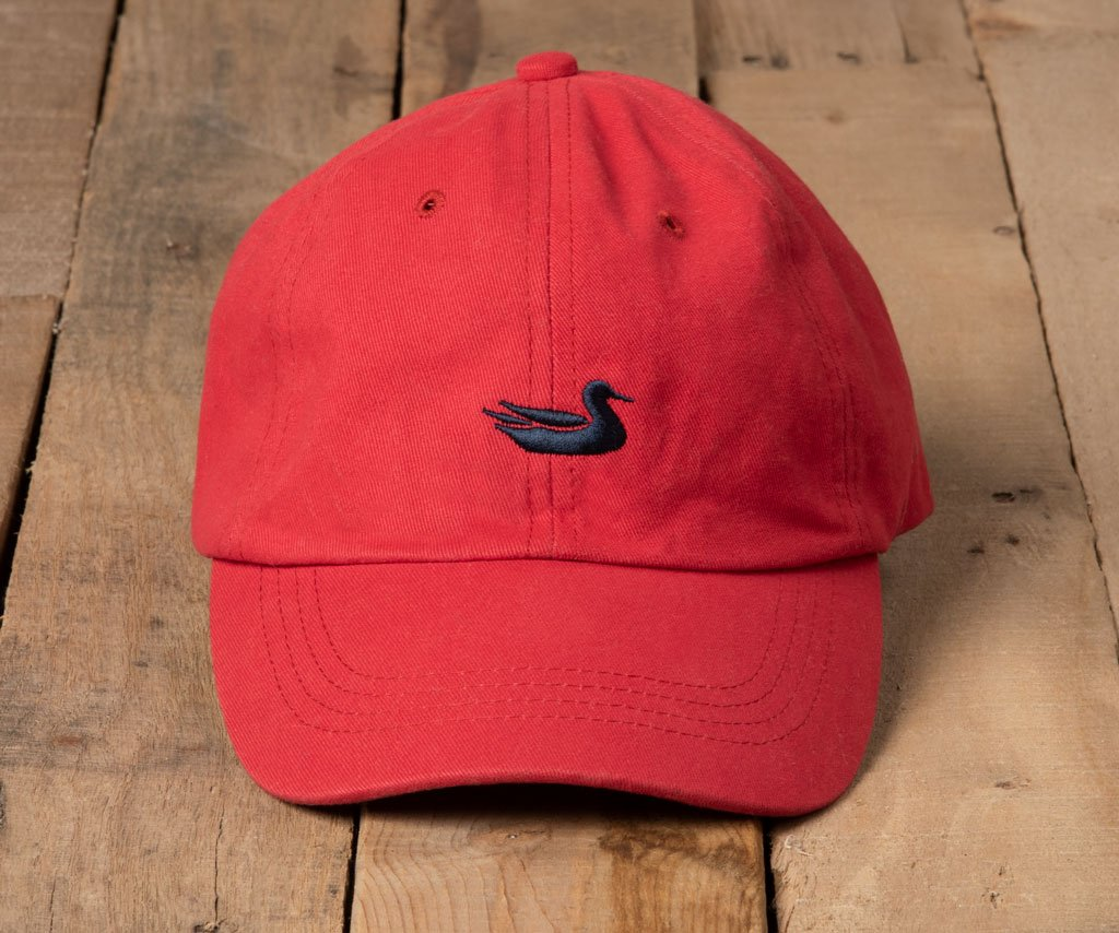 Vintage Red Hat with Navy Duck | Southern Marsh Signature Hat