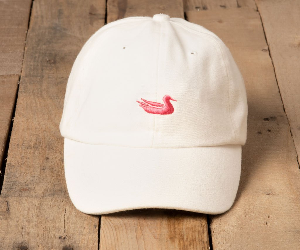 White Hat with Pink Duck
